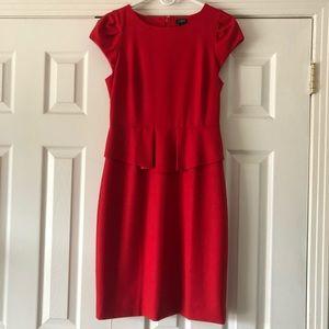J. Crew Factory Red Cap sleeved dress